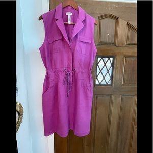 Calvin Klein sleeveless linen short dress